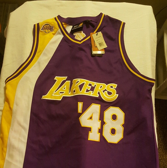 166a14bf4db New Mens Lakers Jersey  48