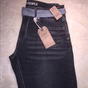 indigo People Other - Men's Indigo People Blk Acid Wash Denim Jeans NWT