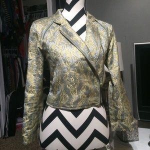 Metallic HnM cropped blazer size 4