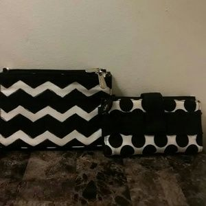 Thirty One Handbags - Thirty One Blk & Wht. Wallets (lot of 2)