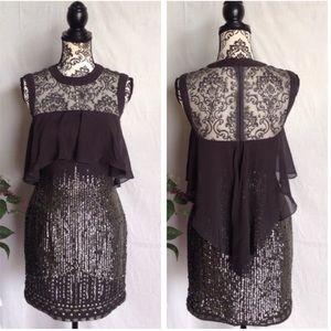 Dresses & Skirts - ❌SOLD❌Unique Sequin Studded Mesh Dress