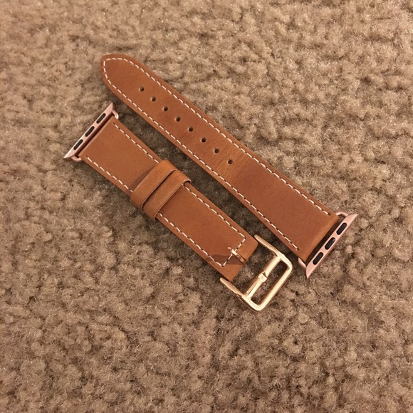 38% off Accessories - Brown Leather Apple Watch Band Rose