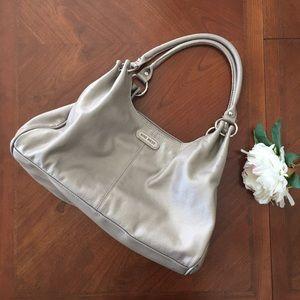 Nine West Handbags - Nine West gold shoulder bag purse zipper