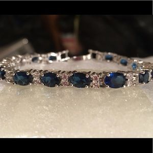 Jewelry - Blue And White Sapphire