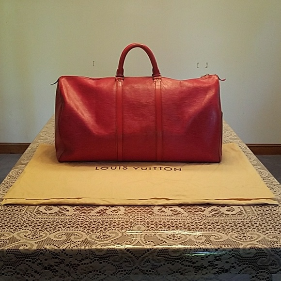 bba1d12ec2a Louis Vuitton Handbags - Louis Vuitton Keepall 55 in Red Epi Leather
