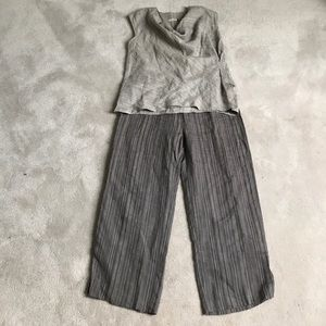 chalet Other - NWOT Chalet boho linen top cropped pants S