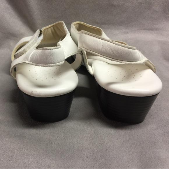 Sas Sas Suntimer White Leather Sandals Sz 9w Wide From