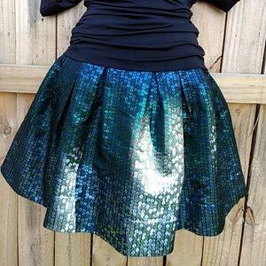 Nanette Lepore Dresses & Skirts - Nanette Lepore Beautiful Skirt Sparkly Peacock