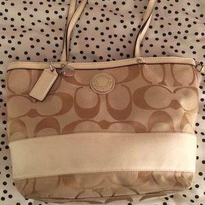 Coach Handbags - Coach Cream Handbag