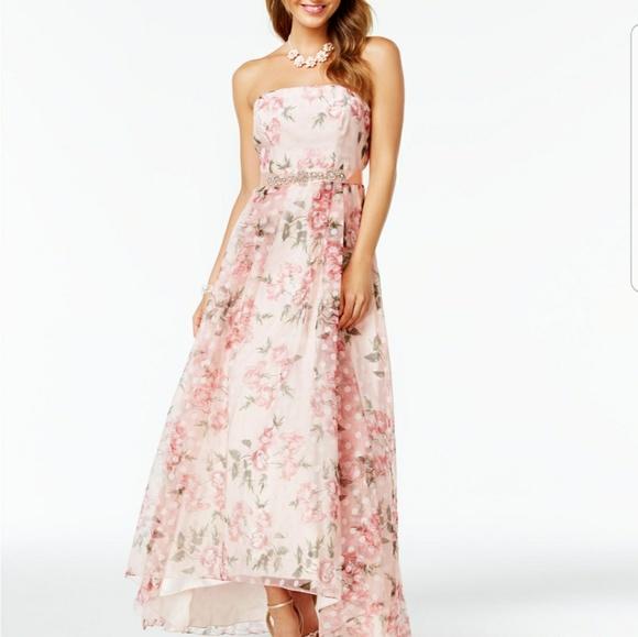 Dillard\'s Dresses | B Darlin Juniors Floralprint Aline Gown | Poshmark