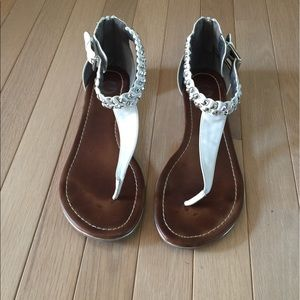 Guess Shoes - Guess White Zip Back Sandals