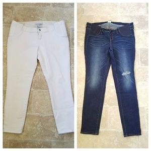 Old Navy Maternity Side Panel Jeans 2 pc Bundle