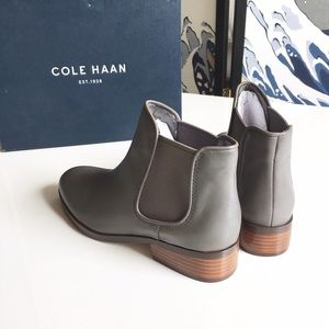 Cole Haan Shoes - Cole Haan Ferri Leather Boots in Driftwood, 6.5