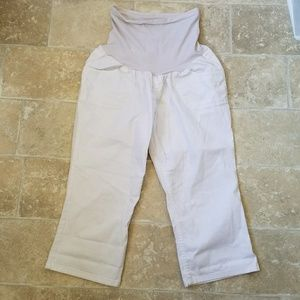 Oh Baby Maternity White Capris