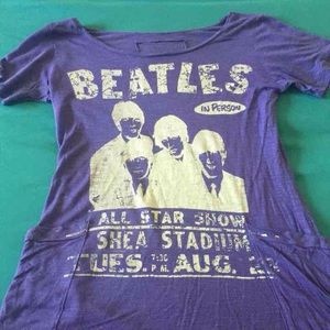 Tops - Beatles Graphic Purple top S/M