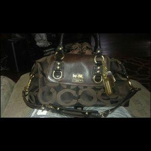 Dark Brown Authentic Coach Sabrina Convertible bag
