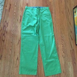 NWOT Men's J Crew 33x30 Green Summer Pants Khakis