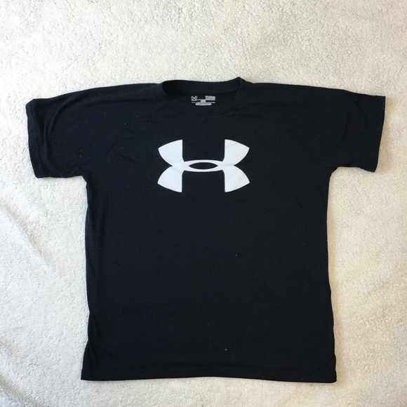 71 off under armour other boys black under armour heat for Under armour heat gear button down shirt