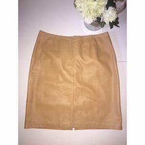 Lord & Taylor Dresses & Skirts - Lord & Taylor 100 % Genuine Leather Skirt