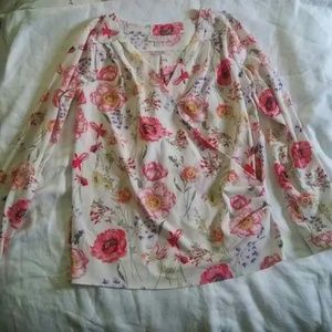 ModCloth Floral Surplus Blouse
