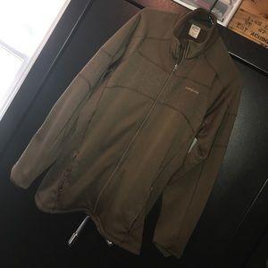 Zip sweatshirt jacket. Patagonia brand.
