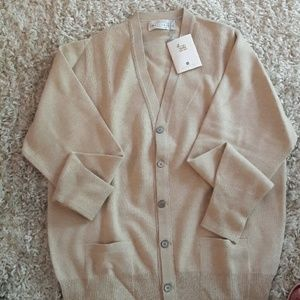 Ballantyne Other - Mens cashmere oatmeal color cardigan