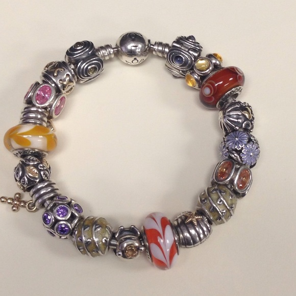 Pandora Clip On Earrings: Authentic Pandora Clip With Purple Czs