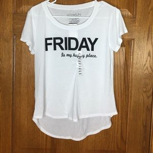 "Fifth Sun Tops - Fun ""Friday Is My Happy Place."" T-Shirt"
