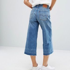 Discount Newest cropped denim culottes - Blue Levi's Free Shipping Geniue Stockist Discount Enjoy AS3Q2