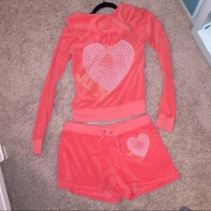 Juicy Couture Terry cloth matching set!