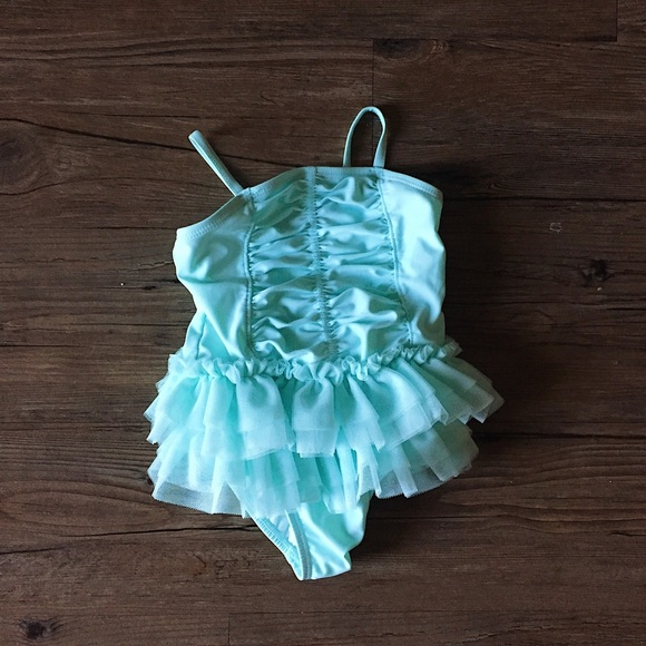 Old Navy Other - Turquoise //  Baby Tot Tutu Swimsuit // 12 - 18