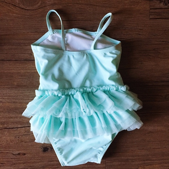 Old Navy Swim - Turquoise //  Baby Tot Tutu Swimsuit // 12 - 18