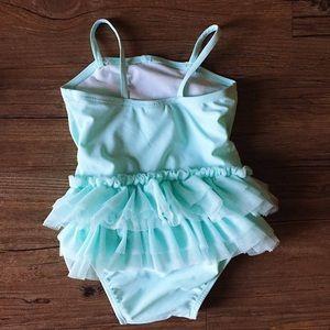 Old Navy Swim - Turquoise //  Baby Tot Tutu Swimsuit // 12 - 18
