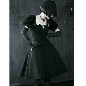 Hot Topic Dresses & Skirts - NEW Gothic Lolita Doll Dress Harajuku Goth Anime