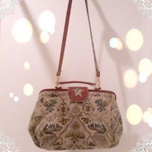 Vintage tapestry Kilim embroidered Crossbody bag