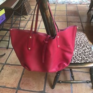 Annabel Ingall Handbags - Annabel Ingall Isabella red tote