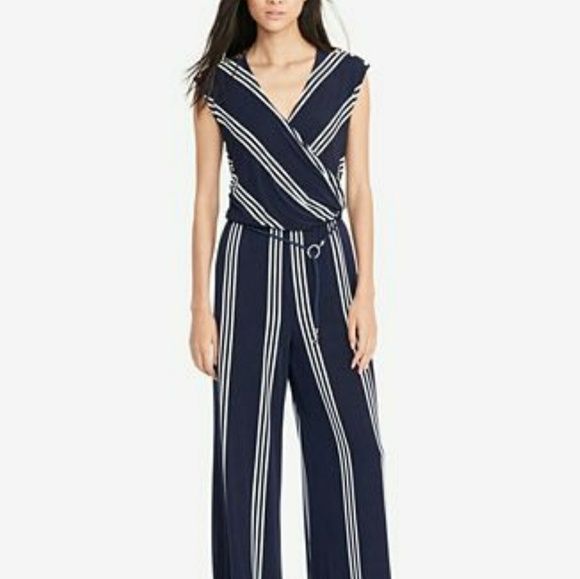 03b770cc3dc9 Ralph Lauren Pants | Striped Jumpsuit | Poshmark