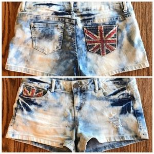 Denim - 🇬🇧 London UK SEQUIN JEAN SHORTS SZ M