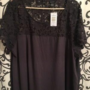 torrid Tops - Torrid gray lace blouse BNWT ❗️final sale drop❗️
