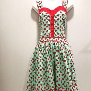 Dresses & Skirts - Vintage/Pin-Up Lady Bug Print Dress