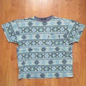 Stussy Tops - Vtg. Stussy Aztec Print Front Pocket T-Shirt