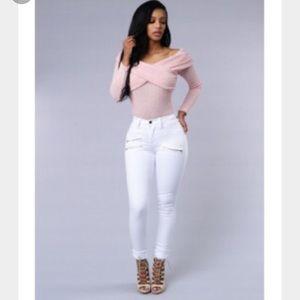 Zip code jeans white from Fashion Nova