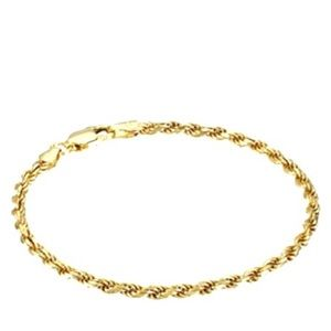Jewelry - Sterling Silver Gold Rope Bracelet