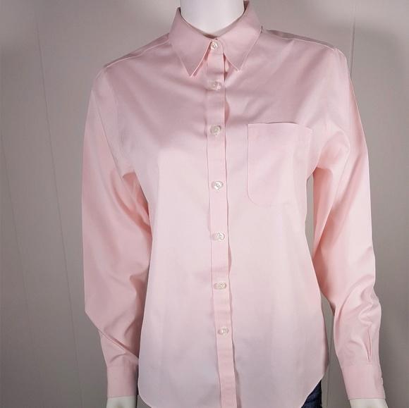 54 off l l bean tops l l bean pink wrinkle resistant for Ll bean wrinkle resistant shirts