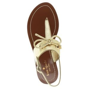 kate spade Shoes - New Kate Spade Gold Carolina Leather Sandals