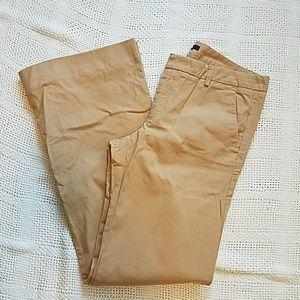 Gap khaki long wide leg cotton dress pants