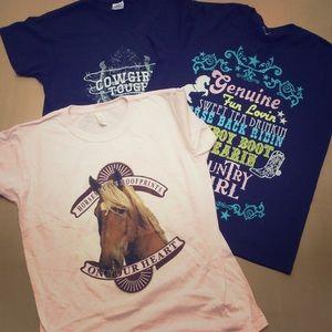 Gildan Tops - Like New Cowgirl Tee Shirts Bundle