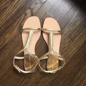 Gold ZARA metallic sandal