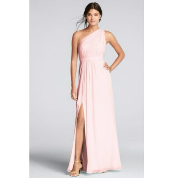 f90b56ee9e6 David s Bridal Dresses   Skirts - David s Bridal Petal Pink F18055 Chiffon  ...