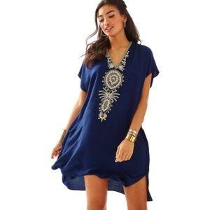 Lilly Pulitzer Chai V-Neck Caftan Dress L/XL